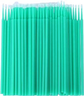 ACAMPTAR 100個 歯科用マイクロブラシ 使い捨て材料 歯用アプリケーター ミディアムファイン(ライトグリーン)