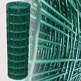 Garmix 25 Meter Gartenzaun Grün Maschenweite 7,5 x 10 cm (100cm)