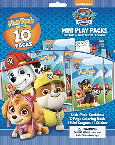 Bendon Paw Patrol 10 Mini Play Packs