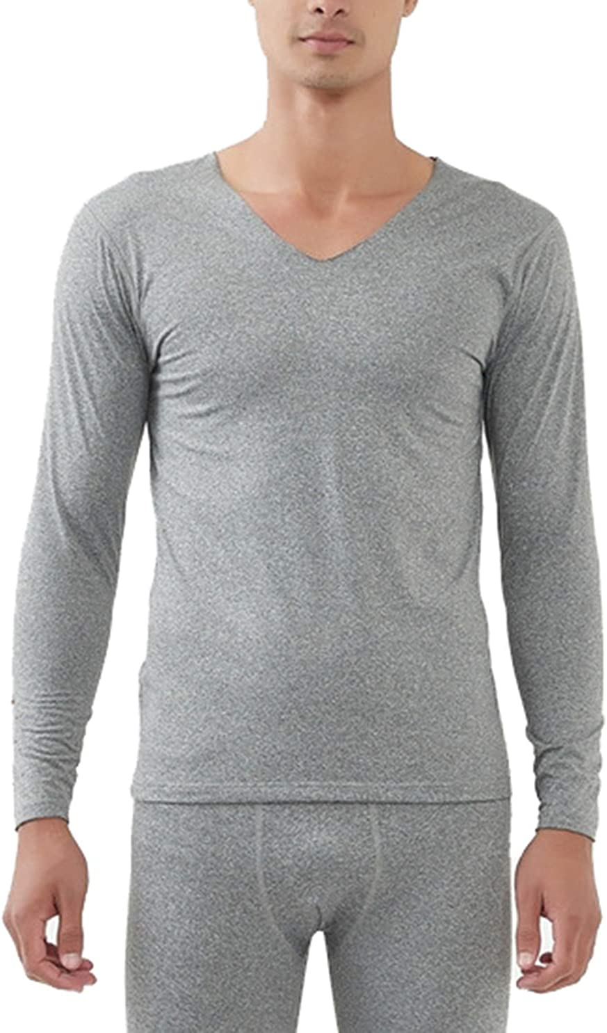 Femaroly Men's Ultra Soft Thermal Underwear Set Base Layer Top and Bottom with Fleece Lined