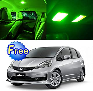 SCITOO LED Interior Lights 6pcs Green Package Kit Accessories Replacement for 2009-2014 Honda FIT Jazz