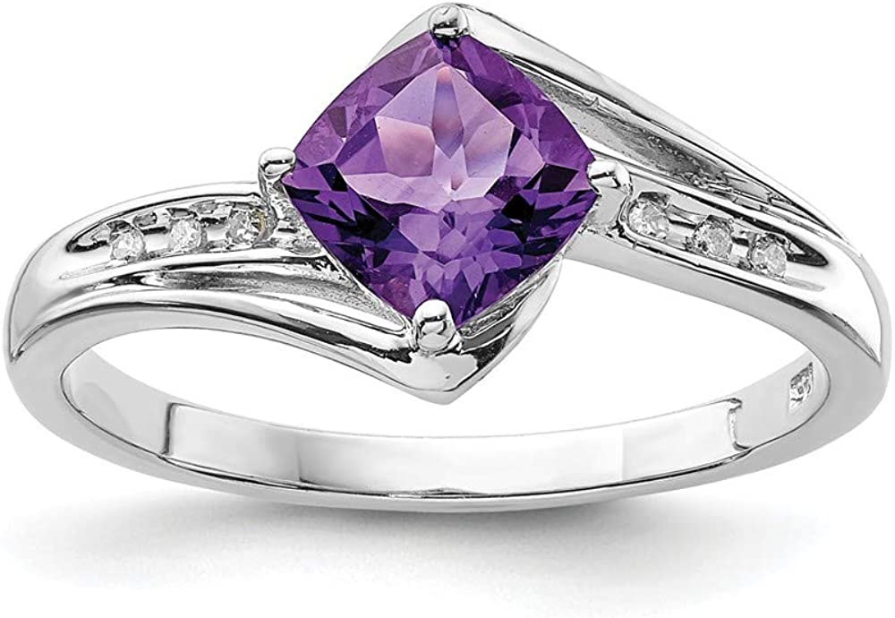 Ranking TOP9 Solid 925 Sterling High quality Silver Diamond Amethyst G February Purple and