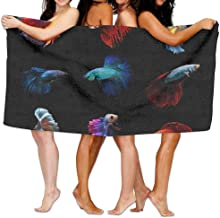 Duanrest Betta Fish Pez Luchador siamés Betta Splendens Aquarium Momento de pez Luchador siamés Toalla de Playa Absorbente 130x80cm