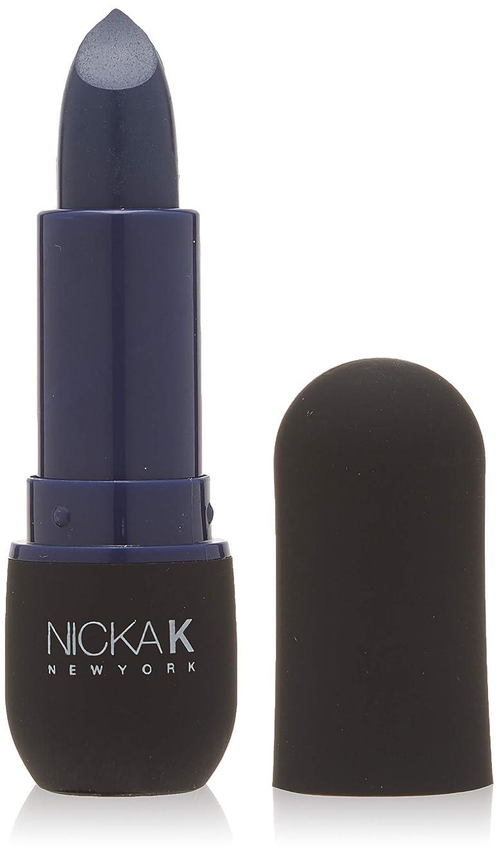 聞く秀でる韻NICKA K Vivid Matte Lipstick - NMS08 Indigo (並行輸入品)