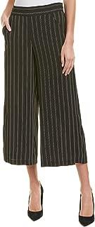 Max Studio Women's Print Pajama Pant, Black/Ivory/Light Grey Triple pin Stripe, XL
