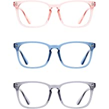 2c586814c8 TIJN Unisex Stylish Square Non-prescription Eyeglasses Glasses Clear Lens  Eyewear