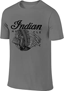 Mens Designed Casual Tee Indian Motorcycle Logo Tshirts