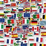 XXL-Konfetti * FLAGGEN Welt * als Deko für EM 2020 Party & Geburtstag | 96 Teile | Länder Erde Fahnen WM 2022 Mottoparty Tischdeko