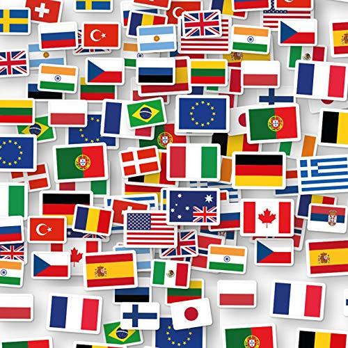XXL-Konfetti * FLAGGEN Welt * als Deko für EM 2020 Party und Geburtstag   96 Teile   Länder Erde Fahnen WM 2022 Mottoparty Tischdeko