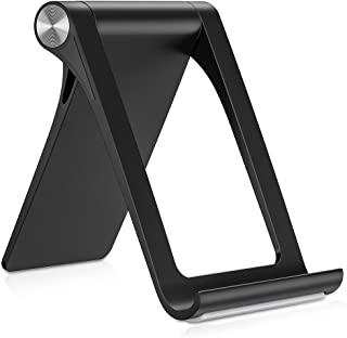 TORRAS Cell Phone Stand for Desk, 360° Adjustable Desktop Cradle Holder Compatible for iPhone Xs/Xs Max/XR / X / 8/7 / 6 Plus, Samsung Galaxy Note 9 / S9 / S9 Plus / S8, iPad Mini - Black