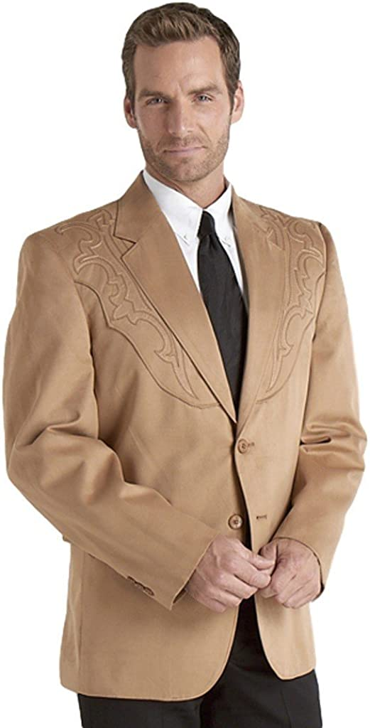 Circle S Men's Embroidered Micro-Suede Sport Coat - Cc6525a-Big