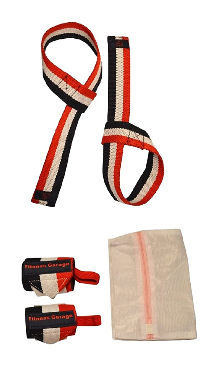 OFG Wrist Support Wraps Pulling Straps Laundry Bag Bundle Multi Size Colors Great For Ergonomic and Heavy Lifting Simple Hook Thumb Loop Design Ideal for Pushing Pulling Weightlifting Olympic Lifting