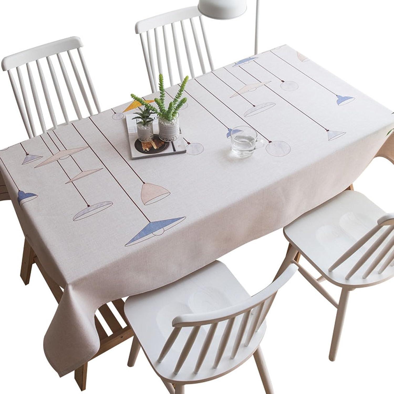 nueva marca Mantel de Lino de algodón Simple, pequea Tela Tela Tela de Cubierta Rectangular Fresca, Mantel casero (Tamao   140  240cm)  bienvenido a orden