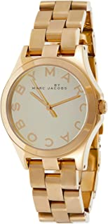 Marc by Marc Jacobs Women's Gold Dial Stainless Steel Band Watch - MBM3211
