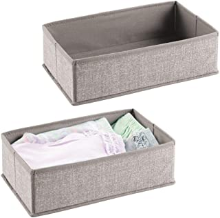mDesign système de rangement - boite de rangement tissu – organisateur tiroir pour garde-robe, rangement maquillage, couch...