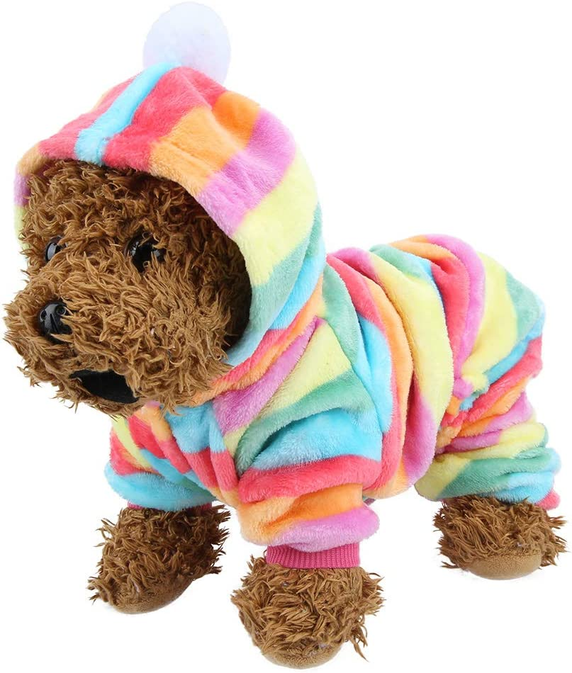 Dog Costume Pet Hoodies Clothes Puppy Winter Warm Flannel Pajamas Fashion Soft PJS Jumpsuit Outfits for Dogs Cats