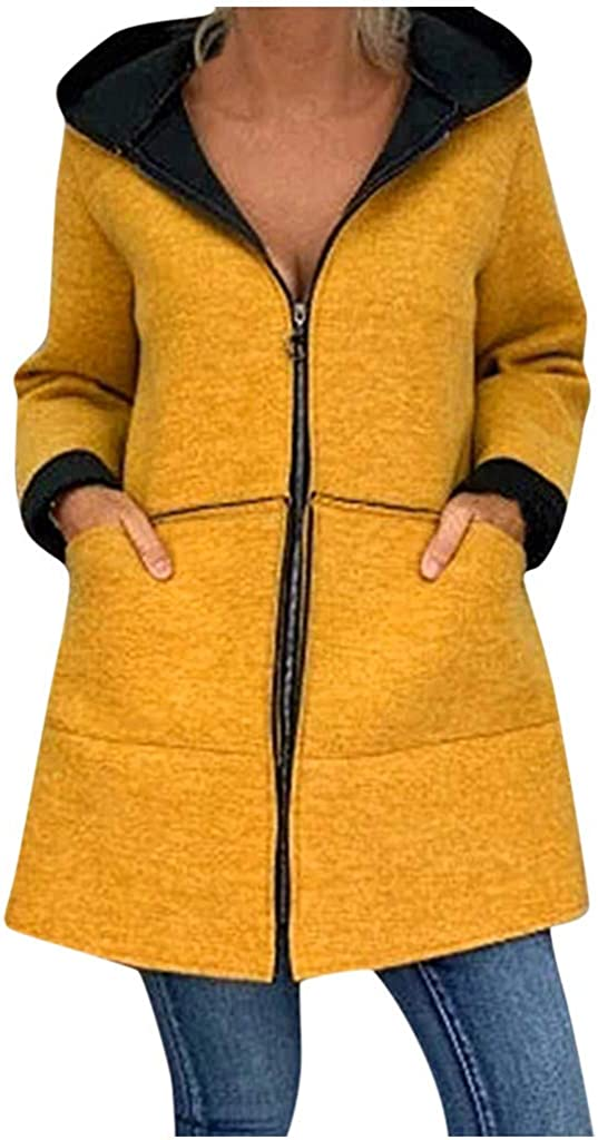 GREFER Coats for Women Plus NEW before selling Free shipping / New Size Woolen Sweat Faux Soft Full-Zip