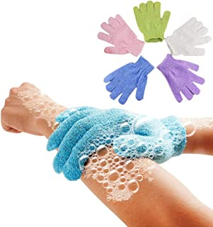 EUTUOPU 5Pcs Shower Gloves Exfoliating Wash Skin SPA Bath Gloves Foam Bath Skid Resistance Body Massage Cleaning Loofah Scrubber