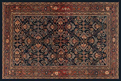Centesimo Web Shop Tappeto Classico Riproduzione Stampato Antiscivolo Tappeto Antico Persiano Tabriz Iran - Blu - 208x314 cm