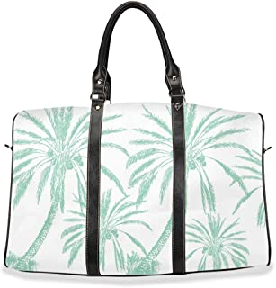 Island Breeze Weekender Duffel Bag For Women (Complete Two-Piece Set In Seafoam) - Ultra Chic Hand Carry Or Over The Shoulder Bag
