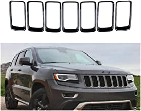 HX Grill Rings Grille Grill Inserts Fit for 2014-2016 Jeep Grand Cherokee Black 7pcs Grill Cover Inserts Frame Trims