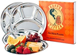 STAINLESS STEEL Plates, 4-Pack 9.5