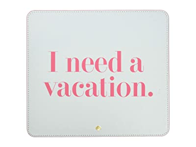 Kate Spade New York I Need A Vacation Mouse Pad (Light Blue) Wallet