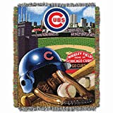 MLB Chicago Cubs 'Home Field Advantage' Woven Tapestry Throw Blanket, 48' x 60'