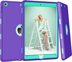 New iPad 10.2 Case 2019, ZERMU 3in1 Heavy Duty Shockproof Rugged Cover Silicone+Hard PC Bumper High-Impact Shock Absorbent Resistant Armor Defender Protective Case for iPad 10.2 inch 7th Generation