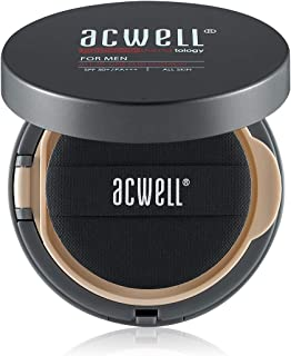 ACWELL For Men Sun Cushion 0.52 Ounce SPF50+ PA+++ Sunscreen UV Care Tone Adjustment Silky Skin