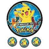 Tortenaufleger Geburtstag Tortenbild Zuckerbild Oblate Motiv: Pokemon 03 -