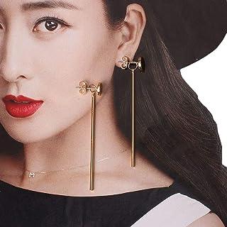 VPbao 1 Pair Simple Women's Ear Stud Metal Strip Earrings Jewellery Set