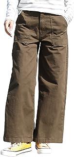 [キャプテン・ケイ] コットン ツイル ベイカーパンツ 裾幅広 ワイドパンツ 3カラー M~4L レディース