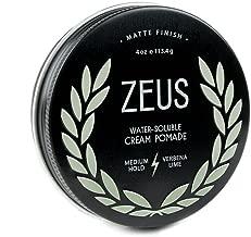 ZEUS Cream Hair Pomade for Men, Matte Finish, Medium Hold, 4oz (New Formula)