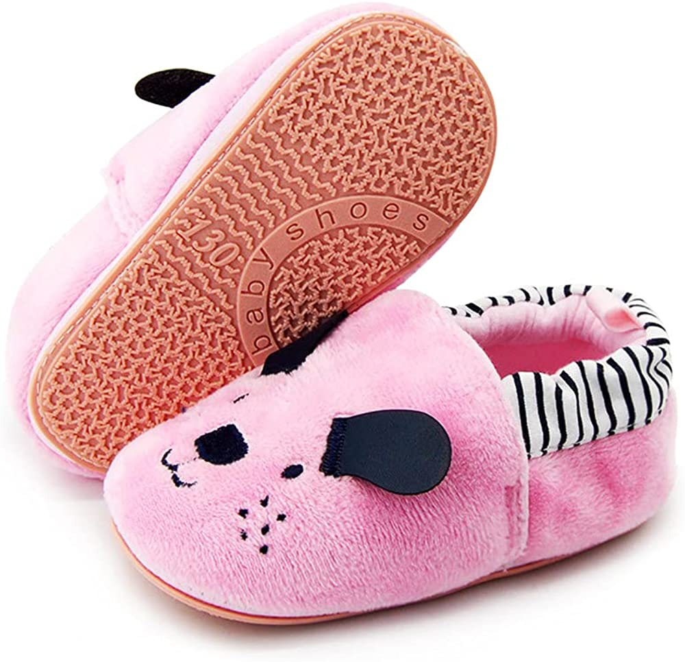 Baby Boys Girls Shoes Non Slip Slipper Sneaker Soft Sole Moccasins Newborn Infant Toddler Cartoon First Walker Crib House Shoes