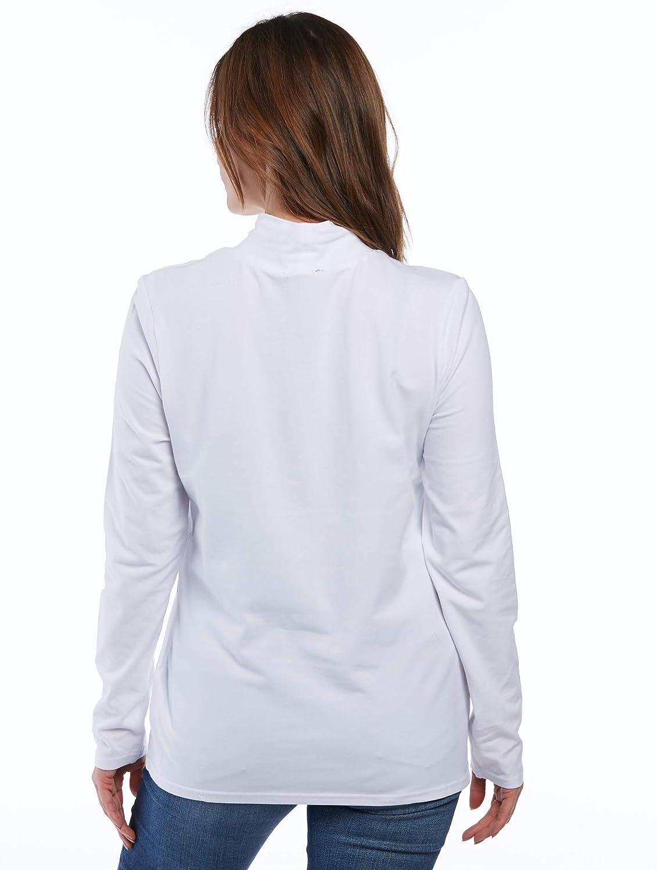 Erika Womens Winnie Mockneck Long Sleeve Top