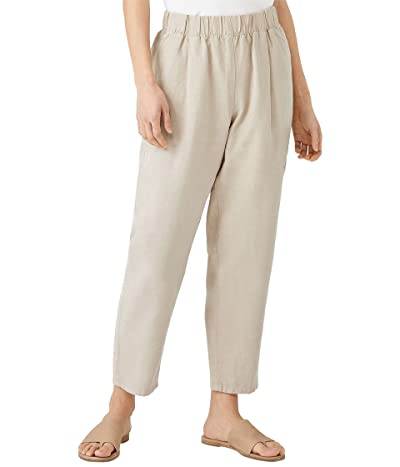 Eileen Fisher Petite Tapered Ankle Pants in Tencel and Linen