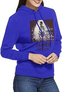 Women's Hoodie Warm James Arthur Adult Pullover Blue XL