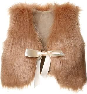 brown fur sleeveless jacket