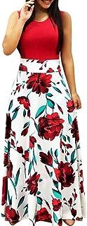 """JUTOO Women""""s Summer Dress,Sleeveless,Short Sleeve,Boho Floral Printed,Sundress, Casual Swing Dress, Maxi Dress,Beach Kleid"""