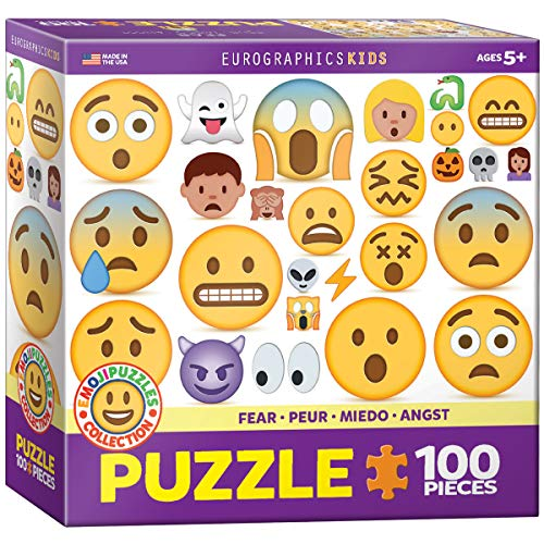 100pcs Fear Emoji Puzzle