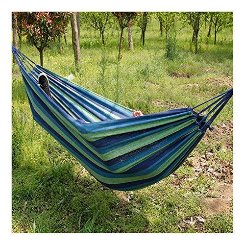 XSCYLWJ Hamaca de jardín al Aire última intervensión Camping para 1Persona Ligera portátil Capacidad de Lona Extra Grande Best Camp Gear para Interior y Exterior Playa