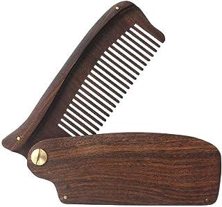 Wooden Comb Black Gold Sandalwood Folding Wooden Comb Portable Massage Hairdressing Sandalwood Comb Beard Comb Oil Hair Pl...
