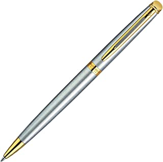 Waterman Hemisphere Stainless Steel Gold Trim BP