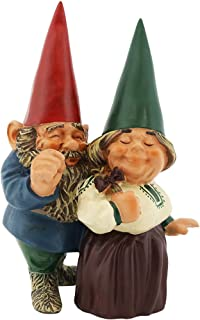 Sponsored Ad - Sunnydaze Garden Gnome Couple Arnold and Sarah, Outdoor Lawn Statue, 8 Inch Tall
