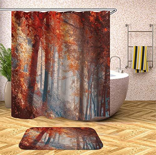 ZZZdz De Sole sprankelen op het Acero rood, meerlaags tapijt, 40 x 60 cm, douchegordijn, 3D-print, HD-druk, waterdicht, 180 x 180 cm