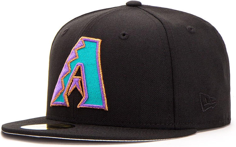 New Era Arizona Diamondbacks 59FIFTY Fitted Cap Cap Cap Diamond-A Logo, schwarz B077ZBHB1P  Online-Verkauf d3700e