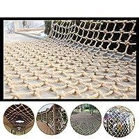 安全 ネット 防護ネットロープネット保護ネットクライミング編まれたロープ、バルコニー階段テラスデッキ落下防止ネット  、6mm 、20cm Ljianw (Color : Beige 20cm, Size : 1x3m)