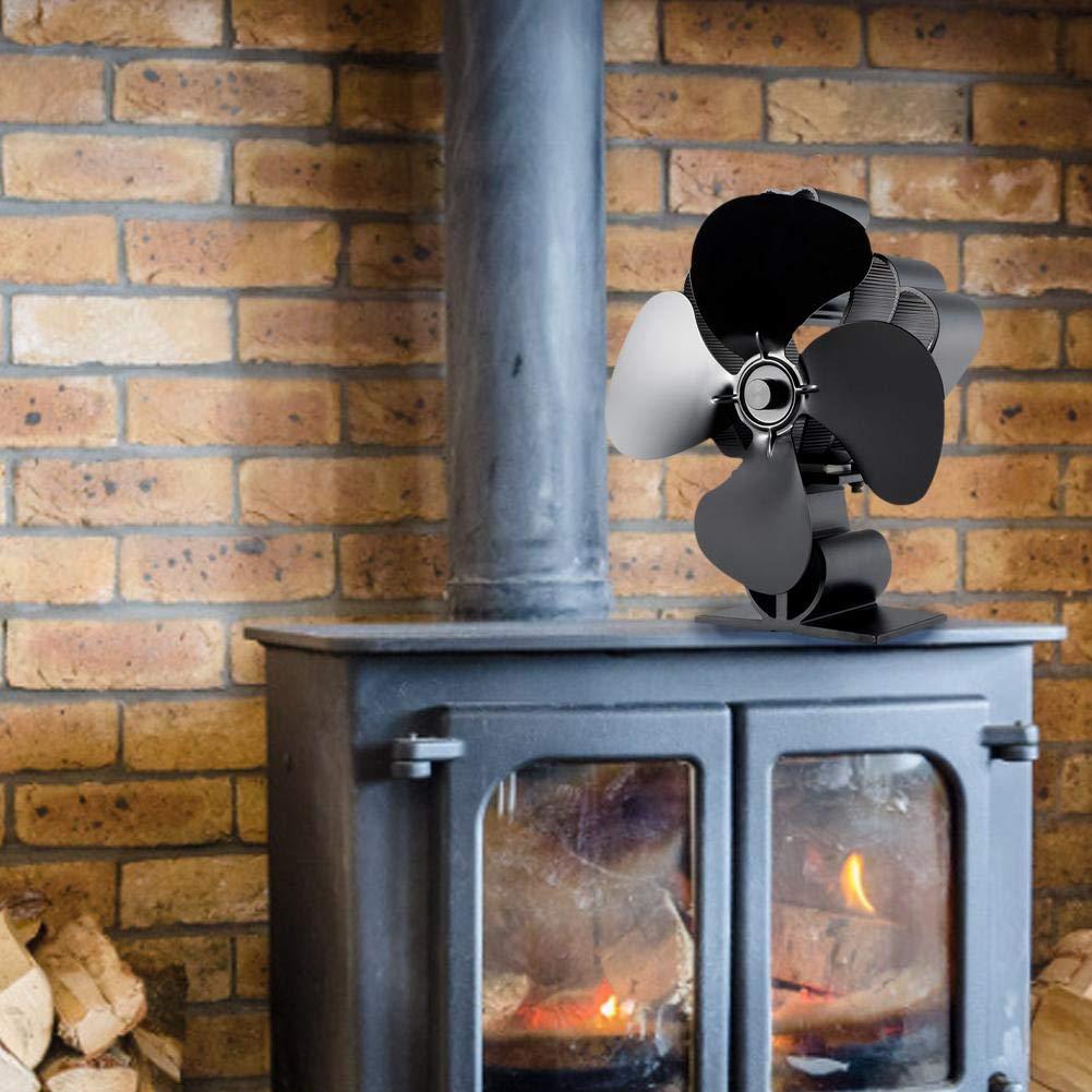 4-Blade Chimenea Ventilador Estufa Calor Desarrollado Ventilador ...