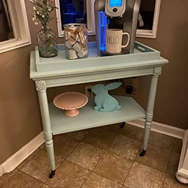 Vintage Rolling Tray Bar Cart Antique End Table Serving Cart with Storage Lower Shelf Retro Tea Coffee Station Cart Trolley M